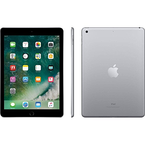 Apple iPad 9.7 with WiFi, 128GB- Space Gray (2017 Model) - (Renewed) Nebraska