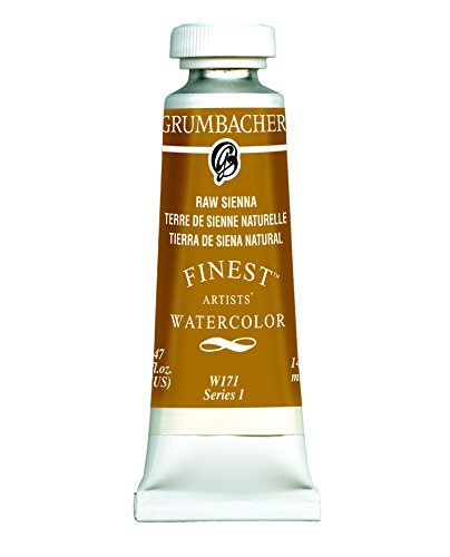 Grumbacher Finest Watercolor Paint, 14 ml/0.47 oz, Raw Sienna