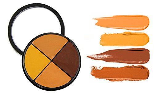 JasCherry Palette correcteur crème de camouflage 4 couleurs - cosmétique Camouflage Crème de Professionnelle Set Kit #2