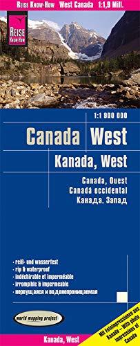 Reise Know-How Landkarte Kanada West / West Canada (1:1.900.000): reiß- und wasserfest (world mapping project)