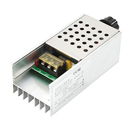 Akozon Stromspannung Regler AC 220 V 6000 Watt SCR Thyristor Digital Regler Geschwindigkeit Elektronisch Dimmer Elektromotor Drehzahlregler Wechselstrom Motor Thermostat Wechselstrom mit Schale