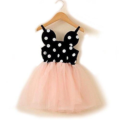 Topmaker Baby Girl Birthday Dress Shining Crown (5Year, Minnie Mouse Polka dot Tutu)
