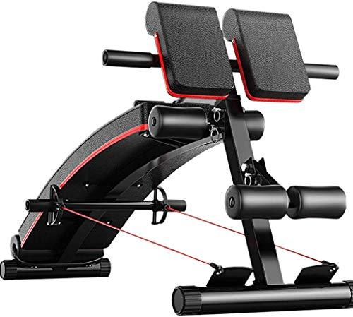 WWWWW Equipo de Fitness multifunción 3 en 1 para el hogar, luz Ajustable, Tabla Abdominal, Silla Romana, Banco de Mancuernas, Carga máxima 440 Libras