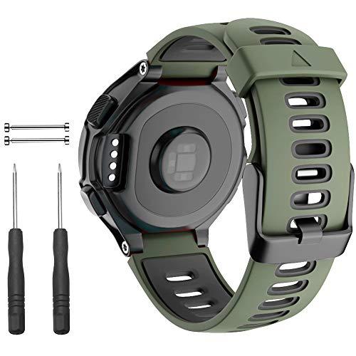 Cakamenshy - Cinturino di ricambio regolabile in morbido silicone, compatibile con Forerunner 735XT 220 230 235 235Lite 620 630 Approach S20 S5 S6 Band per Garmin Smart Watch Accessorio