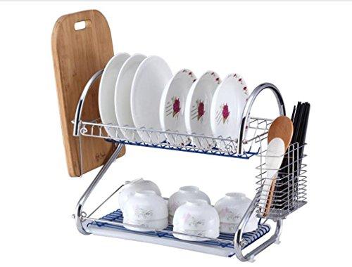 Bowl étagère Fournitures de cuisine Ustensiles Armoire Paniers Porte-vaisselle Armoire Armoire Double Couche Baguettes Boîte de rangement43 * 24 * 39.5CM (taille : 43 * 24 * 39.5CM)