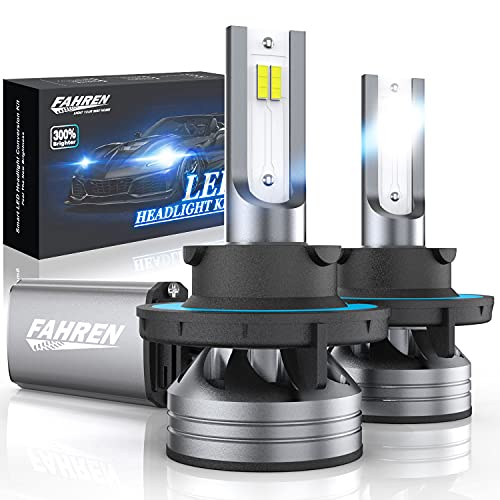 Fahren 9008/H13 LED Headlight Bulbs, 60W 12000 Lumens Super Bright LED Headlights Conversion Kit 6500K Cool White IP68 Waterproof, Pack of 2