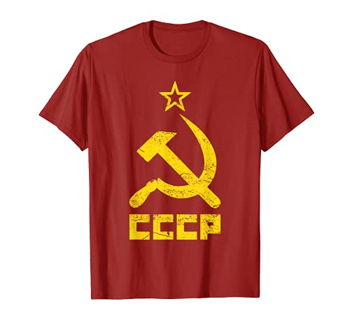 Martillo y hoz estrella CCCP Unión Soviética Rojo Camiseta