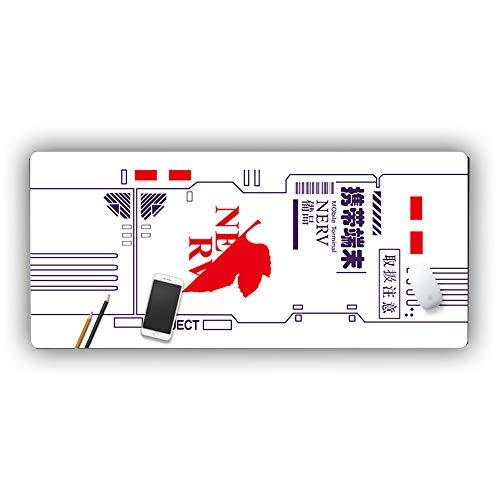 Davrcte Neon Genesis Evangelion Gaming Mouse Pad Mat Large EVA NERV Symbol Anime Mousepads Extended XL White Seele NERV