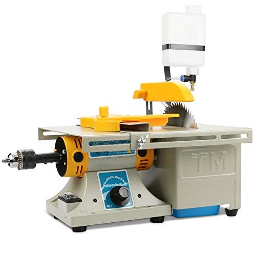 Mini Table Saws DIY Jewelry Lapidary Equipment, Benchtop Buffer Rock Grinder Polishing Machine 0-10000r/min with Flexible Shaft 110V
