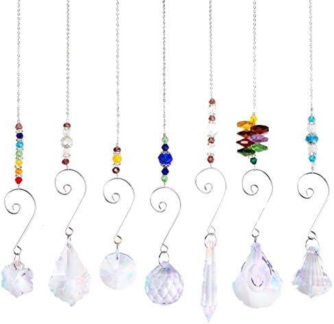 wonuu Hanging Crystal Sun Catcher Chanderlier Suncatchers Crystal Balls Hanging Ornament Rainbow product image