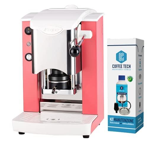 MACCHINA CAFFE A CIALDE IN CARTA ESE 44MM FABER SLOT INOX PLASTICHE BIANCHE(CORALLO) + KIT MANUTENZIONE