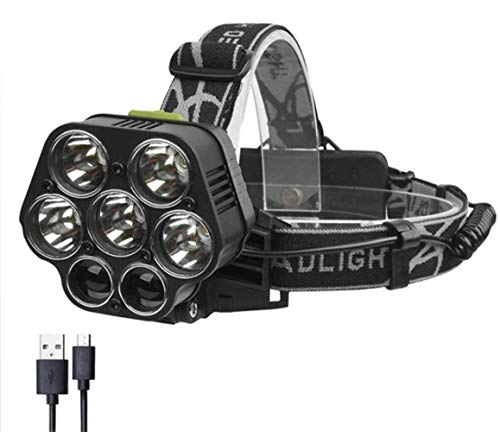 SPTIDY Lampe Frontale, Lampe Frontale Puissante 30000LM LED, Phare Rechargeable USB Étanche IPX5, Convient Au Voyage, Au Camping, À La Réparation Automobile,2pcs