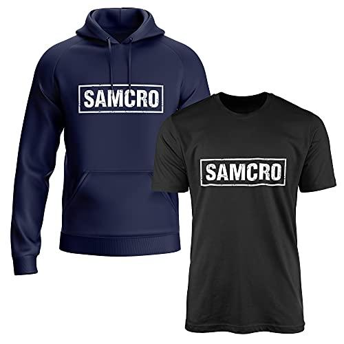 Sons of Anarchy 2er Pack Samcro Kapuzenpullover/T Shirt #3651 (L)