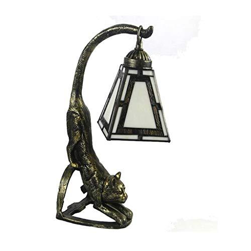 SPNEC Lámpara de Mesa de Estilo Europeo, Metal + Glass Creativa de la Sala de Estar, Dormitorio, Estudio de la lámpara del Ojo Retro