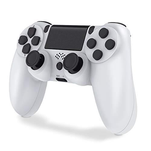 Controller per PS4, Wireless Joystick Playstation 4, Controller di Gioco Senza Fili con Joypad del Dualshock per PS4 PRO (Bianca)