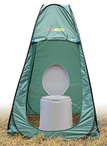 Basicwise Portable Travel Toilet for Camping and Hiking with Toilet/Dressing Pop Up...