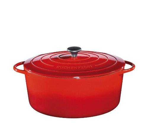 Küchenprofi Olla con Tapa (Ovalada, 33 cm), Color Rojo