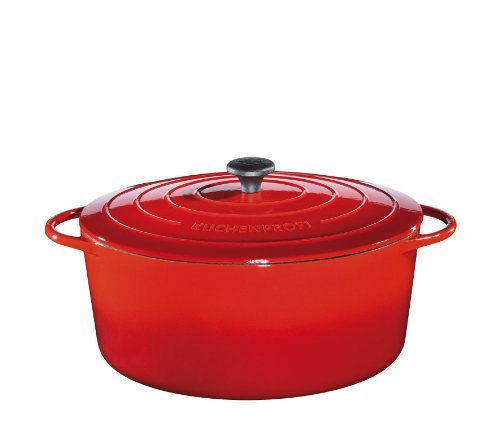 Küchenprofi Gusseisen Bräter, Rot, 33 cm