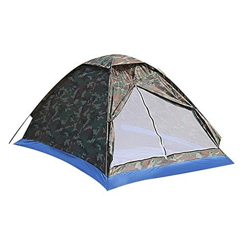 Tienda Camping al Aire Libre Doble aire libre tienda de campaña de una sola capa Beach tienda del recorrido al aire libre a prueba de viento Toldo impermeable ultraligero Carpa plegable al aire libre