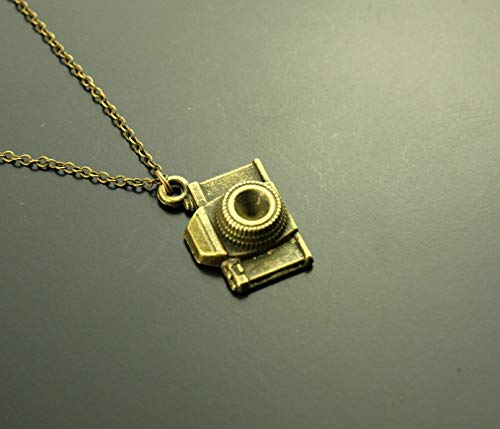 Kette Kamera Fotoapparat Reise fotografieren Fotos Anhänger bronze vintage antik Juvelato