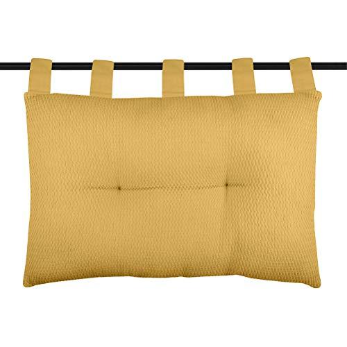 Lovely Casa - Cabecero de Cama - Modelo Berlín - Curry - 45 x 70 cm - 100% algodón T4A530003