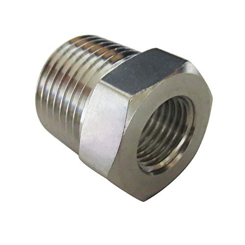 Metalwork Stainless Steel 304 Forged Pipe Fitting, Hex Bushing, 3/4' NPT Male x 1/4' NPT Female 2000psi (1 Pc)