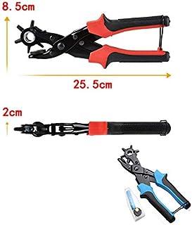 GUOJIAYI Eyelet and eyelet punching tool scrapbook kit manual tool kit belt hole punching pliers kit for belt strap belt p...