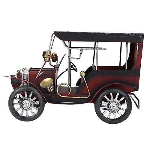 Sheens Antique Vintage Car Model, Miniature Metal Old Vintage Car Collectible Vehicle Toys for Home Office Desktop Decor Birthday Gift