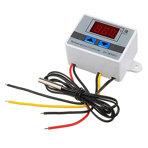 CAIJINJIN Módulo Interruptor de Control del regulador de Temperatura del termostato de Temperatura XH-W3001 microordenador Digital con Pantalla (Tamaño: 12V)