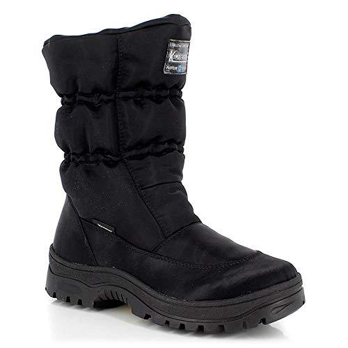 KIMBERFEEL Caroline, Zapatos para Nieve Mujer, Negro, 40 EU