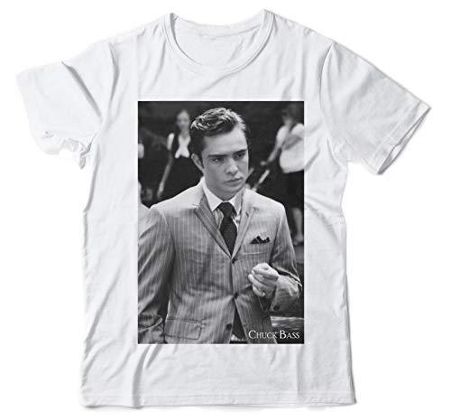 Chuck Bass Gossip Girl Ed Westwick Cotton Mens Top Tee Casual T-Shirt