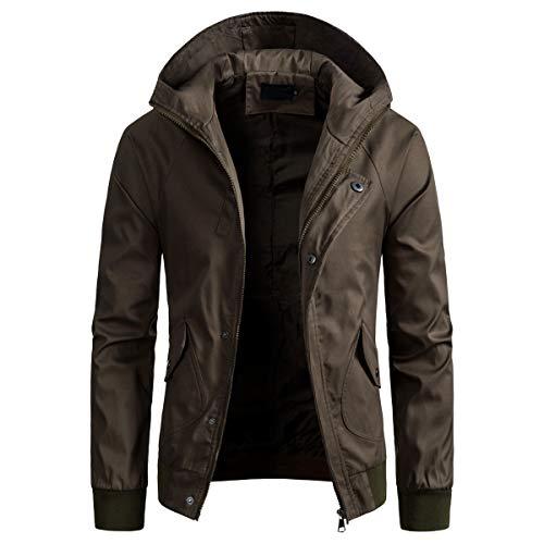 AOWOFS Męska kurtka przejściowa, lekka z kapturem, kurtka męska na lato, wiatroszczelna kurtka dla mężczyzn