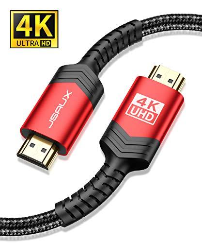 professionnel comparateur Câble JSAUX HDMI Câble HDMI 2.0 ultra-rapide 4 m 18 Gbit / s (prise en charge 3D, pour vidéo 4K)… choix