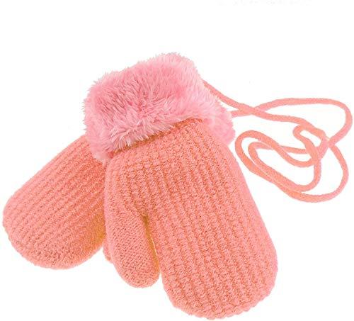Glamour Girlz Manopla de nieve para bebés y niñas con forro polar cálido para invierno, 6-15 meses (coral)