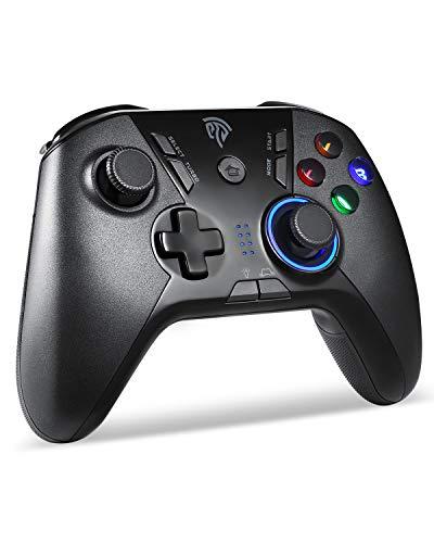 Mandos Inalámbricos, BZ 2.4G Mandos PS3 Batería, Gamepad con 5 Velocidades para Adjustar LED, Vibración Dual, TURBO y 4 Botones Programables para PS3/ Andriod Móvil/PC/Tablet/TV/TV BOX