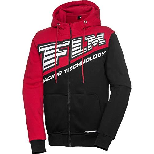 FLM Hoodie Sweatshirt Sweatjacke Kapuzenpullover Hoodie 4.0 schwarz/rot 3XL, Herren, Casual/Fashion, Ganzjährig
