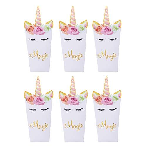 Toyvian Popcorn Papierboxen Einhorn Snack Container für Kinder Party Kino 36St
