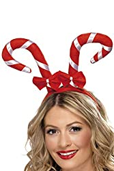 Look sweet in our Candy Cane Headband This Christmas fancy dress accessory comes with bows Great for your next party Stand out from the crowd Available on the website