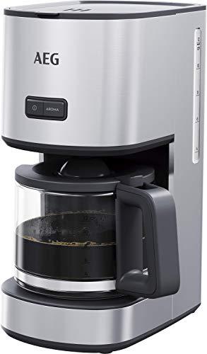 AEG CM4-1-4ST Kaffeemaschine (1,5 l Glaskanne, 12 Tassen, Warmhaltefunktion, Geschmack/Aroma wählbar, Anti-Tropf Ventil, entnehmbarer Filterkorb, Sicherheitsabschaltung, gebürstetes Edelstahl)