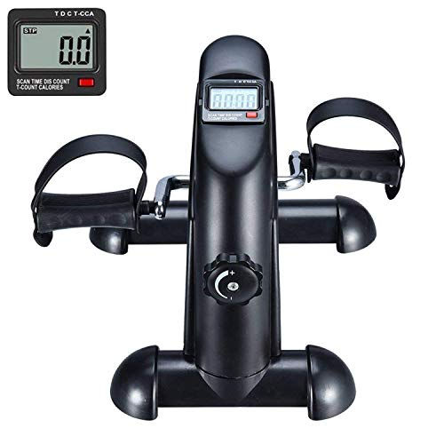 BOOKCYCLE Mini Exercise Bike Pedal Exerciser with LCD Monitor for Leg and Arm Exercise