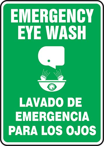 Jendco - Bilingual Safety Sign: Emergency 10