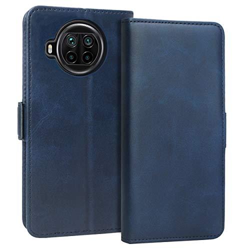 KUAO Leder Klapphülle Hülle Kompatibel mit Xiaomi Mi 10T Lite 5G, [Classic Wallet Serie] mit Magnetverschluss & Standfunktion Schutzhülle Tasche Handyhülle für Xiaomi Mi 10T Lite (Blau)
