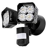 SANSI LED Security Motion Sensor Outdoor Flood Lights, 36W (250W Incandescent Equivalent) 3600lm, 5000K Daylight, Dusk to Dawn IP65 Waterproof Flood Light, Black