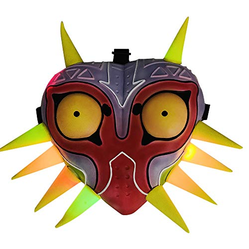 yeyoxin LED Majora's Mask Light up Cosplay mask Halloween Costume Props Fans Collection Adult Kids
