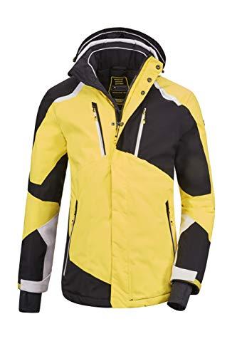 killtec Men Snow Jacket Savognin MN Ski Jckt B, Color:Gelb/Schwarz/vaporgrau, Size:S
