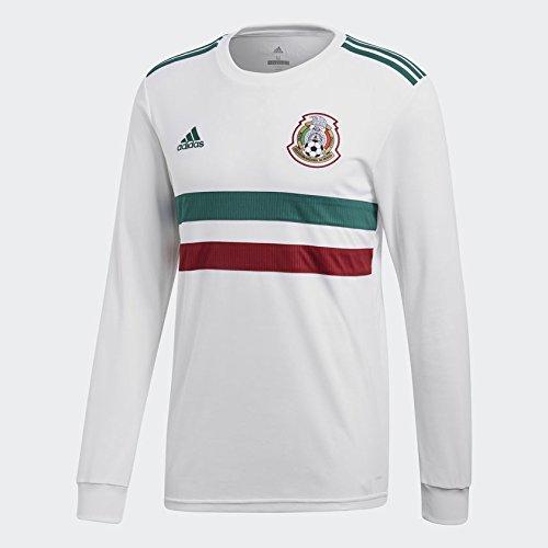 Adidas Mexico Manga Larga Jersey para Hombre, color Blanco, Grande