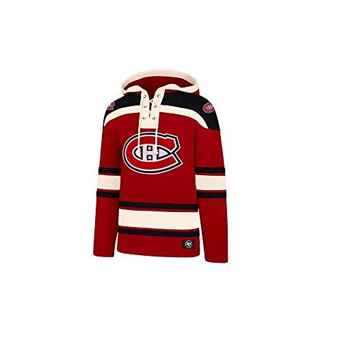 47 Brand NHL Eishockey Hoody Hoodie Kaputzenpullover Sweater Montreal Canadiens Lacer Jersey Trikot Hooded (M)