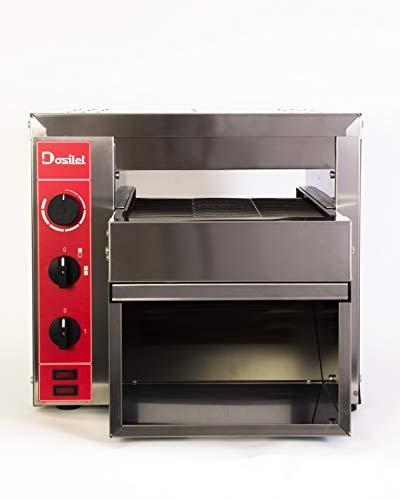 Professioneller elektrischer Bandtoaster DOSILET BUFFET 2800 W einphasig mit Widerstandsknopf. Für alle Arten von PAN: Toasts, Bagels etc. Ideal für FRANQUICIAS und/oder SERVICE DELIVERY