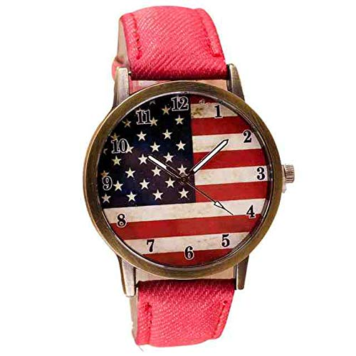 WDQTDY Fashion Bandiera americana Orologio Uomo/Donna Orologio di marca di lusso Orologio da polso da donna Amanti Uomo Reloj Hombre Regalo unisex #DG