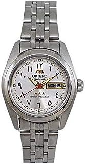 ساعة اورينت اتوماتيك بمينا عربية ستانلس ستيل فضي للسيدات SNQ23006S8